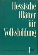 Cover der Hessischen Bläter für Volksbildung aus dem Jahr 1958