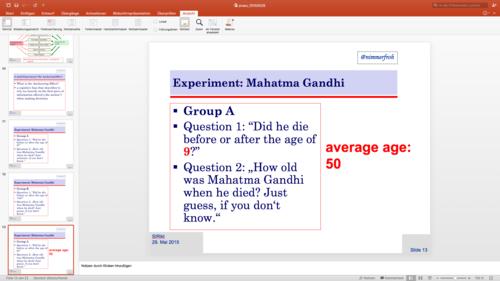 Beispielfolie mit Störer in PowerPoint