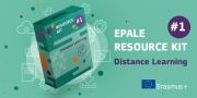 Das Bild zeigt eine bearbeitete Softwareverpackung, auf der der Titel EPALE Resource Ki #1 aufgedruckt ist.