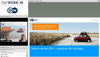 Screenshot: Deutsche Welle bei der DaFWEBKON 2017