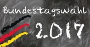 """Tafel mit Beschriftung """"Bundestagswahl 2017"""""""