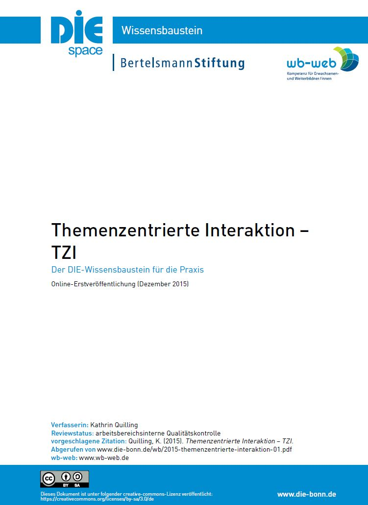 Download Wissensbaustein Themenzentrierte Interaktion