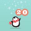 Pinguin mit der Ziffer 20