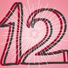 Strahlender Stern mit Ziffer 12
