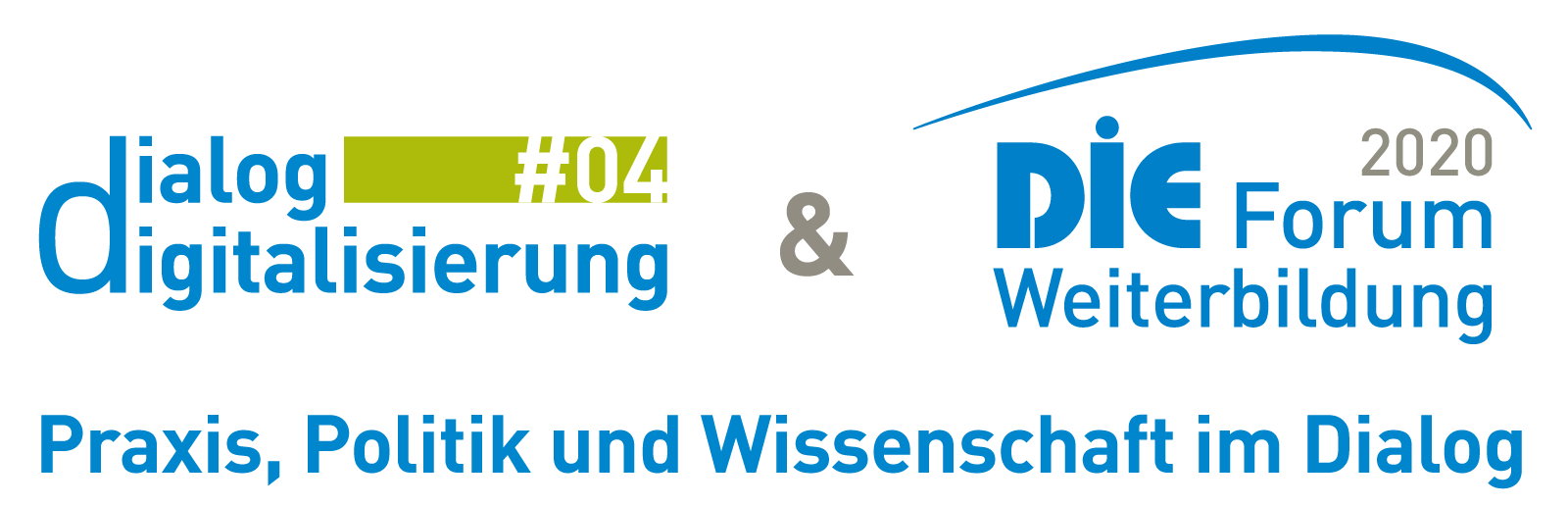 Das Bild zeigt die Logos des Projekts und des DIE-Forums Weiterbildung 2020