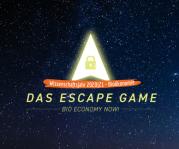 """Das Bild zeigt das Logo des Escape-Spiels """"BioEconomy Now""""."""