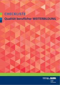 Cover Checkliste Qualität berufliche Weiterbildung