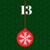 Weihnachtskugel mit der Ziffer 13