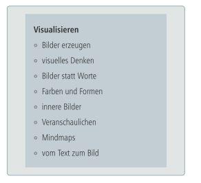 Sammlung zur Visualisierung Breinstorming