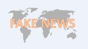 """Weltkarte mit der Aufschrift """"Fake News"""""""