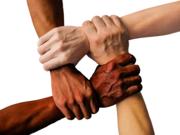 Viele Hände als Symbol für Teamarbeit