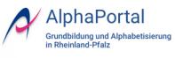 Logo des AlphaPortals Grundbildung und Alphabetisierung in Rheinland-Pfalz