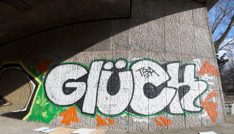 """Grafitty """"Glück"""""""