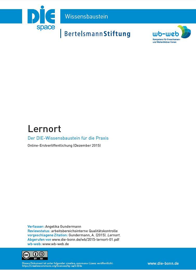 Download zum Wissensbaustein Lernort