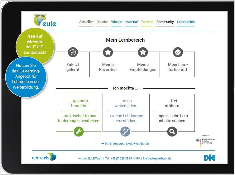 Flyer des Projekts EULE: Lernbereich