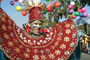 Das Bild zeigt einen Menschen in einem Kostüm.