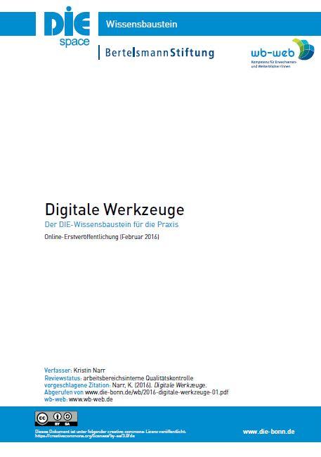Download Wissensbaustein Digitale Werkzeuge