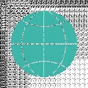 Das Bild zeigt das Piktogramm einer Weltkugel.
