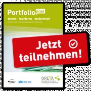 Flyer zur Teilnahme am PortfolioPlus